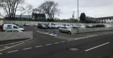 New car parking beside main offices