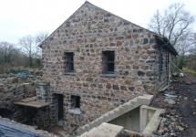 Re-using the natural stone from the old mill