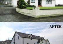 This home was a completly transformed with added garage and upstairs