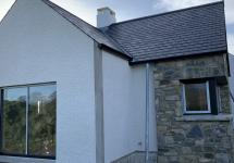 Natural stone and glazing
