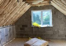 Insulation being installed