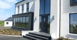 Front Entrance with Zinc Cladding