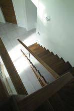 Modern timber stair
