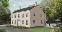 Traditional Replacement dwelling with coloured render