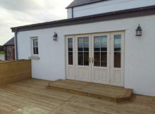 Patio doors onto decking area
